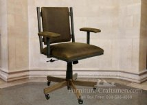 Epworth Desk Chair With Leather